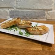 Garlic bruschetta